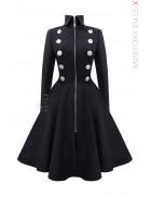 Шерстяное пальто в стиле Ретро Xstyle