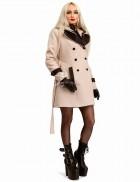 Кашемировое зимнее пальто женское с капюшоном 115047