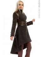 Твидовое пальто с портупеей