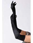 Длинные черные перчатки A1160