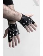 Мужские перчатки без пальцев с цепями X1185