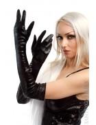 Длинные перчатки под змеиную кожу X1137