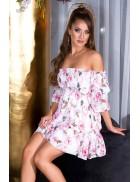 Летнее платье Babydoll с цветочным узором KouCla