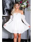 """Белое """"воздушное"""" платье Беби долл KC5502"""
