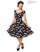 Винтажное платье с цветочным принтом B5520