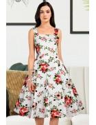 Хлопковое платье с цветочным узором XC5460