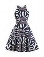 Яркое платье с рисунком XC5468