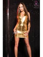 Блестящее золотистое платье KouCla