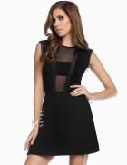 Черное короткое платье XC5112