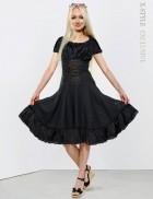 Льняное платье со шнуровкой Xstyle