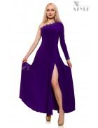 Длинное вечернее платье с разрезом Xstyle