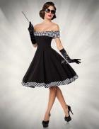Ретро-платье с открытыми плечами