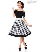 Винтажное платье с клетчатой юбкой