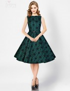 Винтажное платье изумрудного цвета