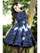 Синее платье в стиле Pin-Up