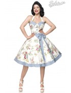 Ретро платье с винтажным узором