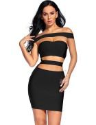 Бандажное полуоткрытое платье