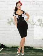 Платье средней длины в стиле 50-х