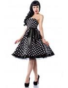 Винтажное платье в горошек