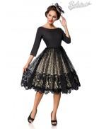 Винтажное платье с кружевом на юбке B5387