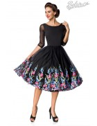 Винтажное платье с вышитой юбкой