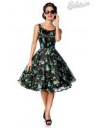 Винтажное платье с цветочным узором и вышивкой