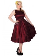 Платье в стиле 50х винного цвета