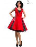 Красное платье в стиле 50х X5345