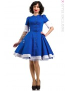 Платье в стиле 50-х с коротким рукавом