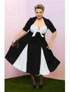 Ретро-платье с декольте (2XL-4XL)