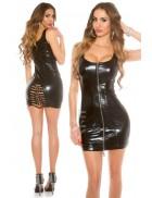 Сексапильное черное платье с вырезом сзади KouCla