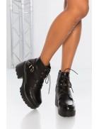 Ботинки женские на массивной подошве M10058
