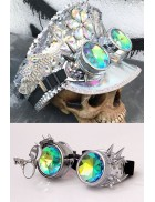 Гогглы с шипами и лупой в стиле Burning Man