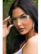 Прозрачные солнцезащитные очки в квадратной оправе (UVP)