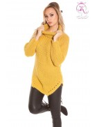 Женский свитер горчичного цвета KouCla