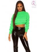 Пуловер женский KC1244 (неоновый зеленый)