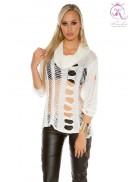 Рваный женский пуловер KC1252
