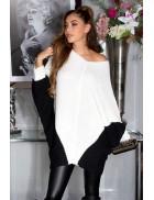Платье-свитер на одно плечо кремового цвета KC1264