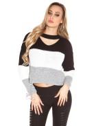 Женский пуловер с чокером KC192