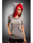 Блузка с ушками кошки X2150