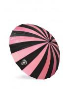 Зонт-трость 24 спицы (фуксия/черный)