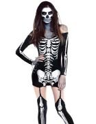 Костюм с принтом скелета