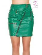 Кожаная юбка в Рок-стиле KC7180