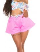 Широкие розовые юбка-шорты MF7007
