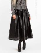 Длинная юбка клеш из перфорированной кожи X-Style