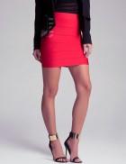 Бандажная юбка XC7149 красная