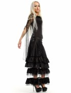 Длинная юбка с прозрачным низом X-Style