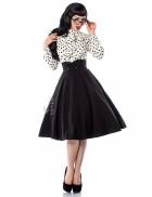 Винтажная юбка-солнце с подъюбником