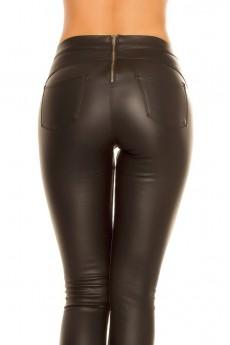 Кожаные джинсы на флисе New Play