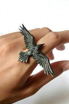 Оловянное черное кольцо Black Consort